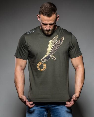 Koszulka patriotyczna Surge Polonia Odznaka Spadochronowa khaki