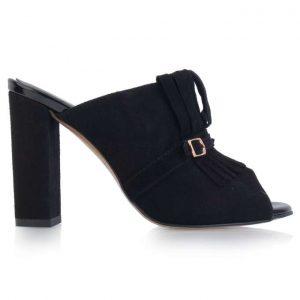 czarne damskie klapki