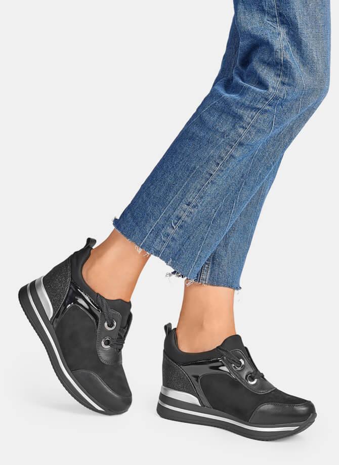 Czarne buty sportowe Catwalk sneakersy