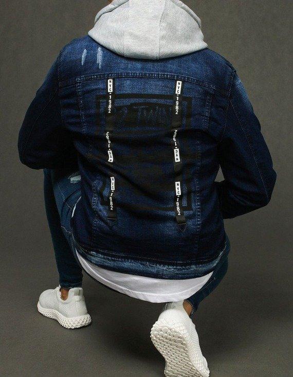 męska kurtka jeansowa - modny styl