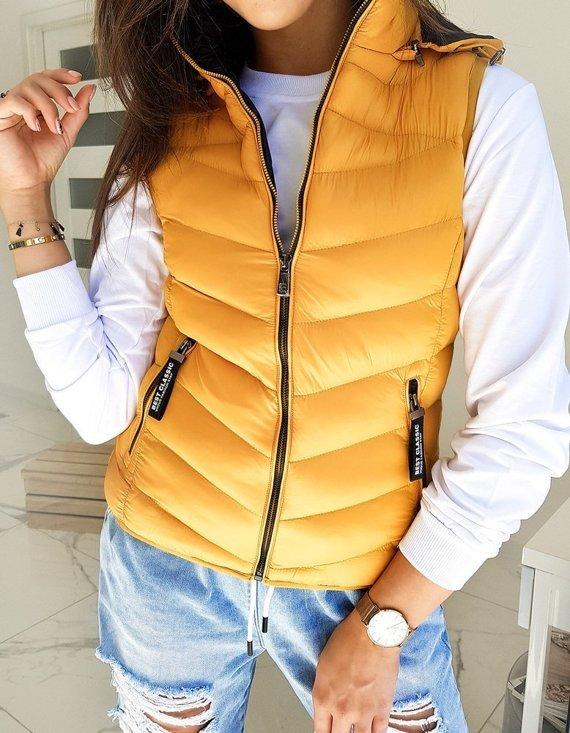 pikowana kamizelka damska - modnie i stylowo
